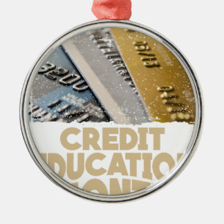 March - Credit Education Month - Appreciation Day Silver-Colored Round Ornament