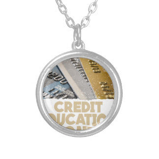 March - Credit Education Month - Appreciation Day Silver Plated Necklace