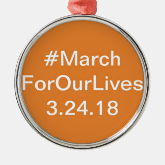 March for our lives gear metal ornament