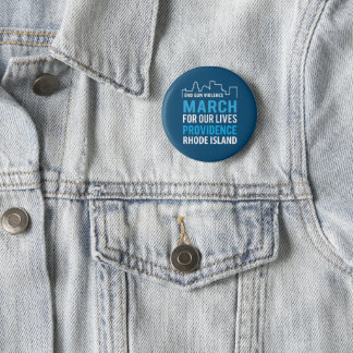 March For Our Lives Providence Rhode Island 2 Inch Round Button