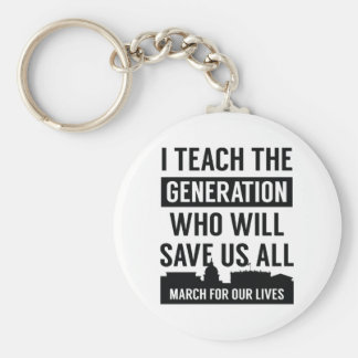 March For Our Lives Teacher Keychain