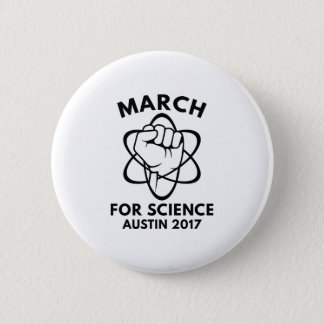 March For Science Austin 2 Inch Round Button