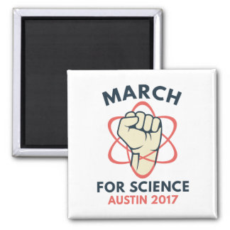 March For Science Austin Square Magnet