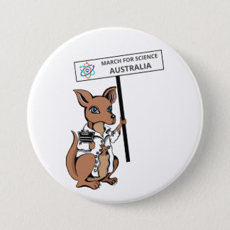 March for Science Australia - Kangaroo - 3 Inch Round Button