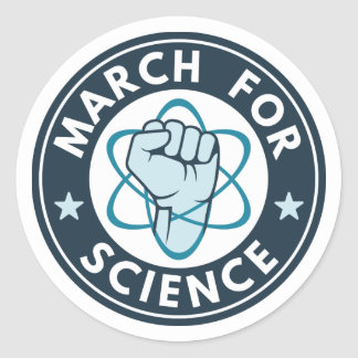 March For Science Classic Round Sticker