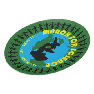 March for Science - Earth Day - 22 April 2017 Party Plate