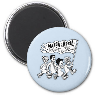 March for Science II 2 Inch Round Magnet