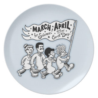 March for Science II Plate