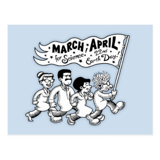 March for Science II Postcard