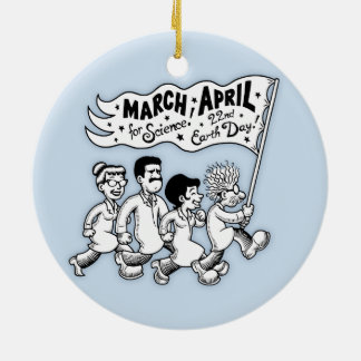 March for Science II Round Ceramic Ornament