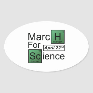 March For Science Oval Sticker