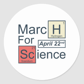 March For Science Round Sticker
