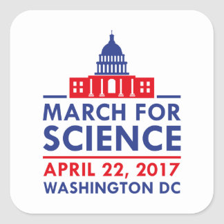 March For Science Square Sticker