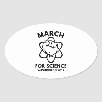 March For Science Washington Oval Sticker