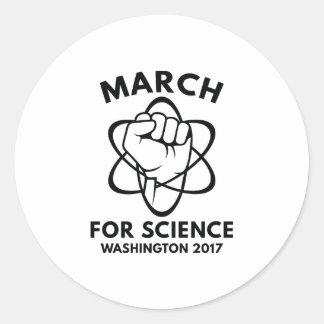 March For Science Washington Round Sticker