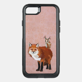 MARCH FOX & ANTLER OWL OtterBox COMMUTER iPhone 8/7 CASE