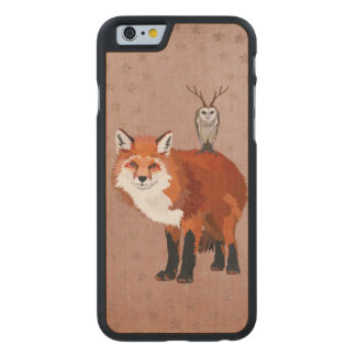 MARCH FOX & ANTLER OWL STARS Carved iPhone Carved® Maple iPhone 6 Slim Case