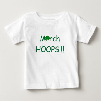 March HOOPS Shamrock Infant Girls Baby T-Shirt