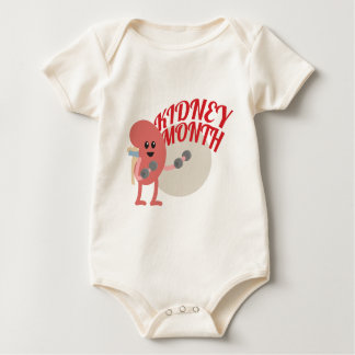 March - Kidney Month - Appreciation Day Baby Bodysuit
