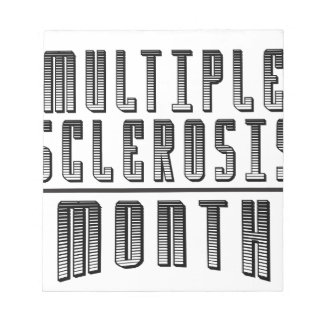 March - Multiple Sclerosis Month Notepad