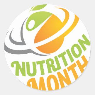 March - Nutrition Month Classic Round Sticker