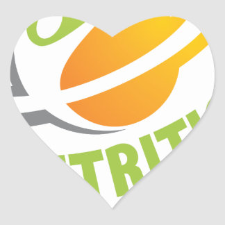 March - Nutrition Month Heart Sticker