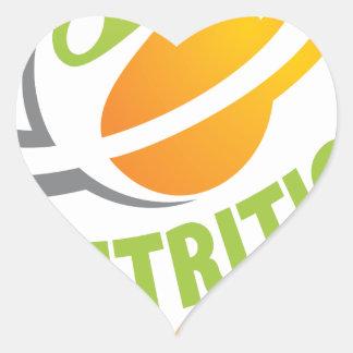 March - Nutrition Month Heart Sticker