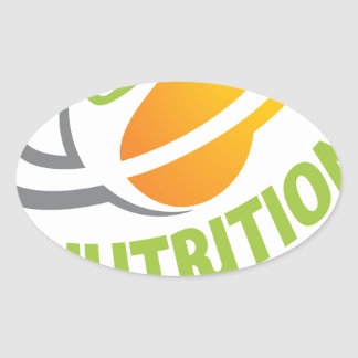 March - Nutrition Month Oval Sticker