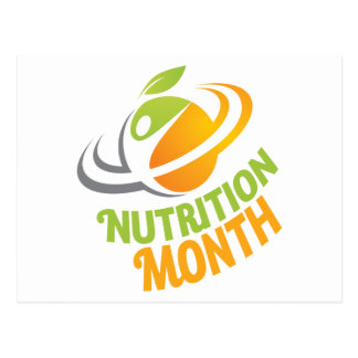 March - Nutrition Month Postcard