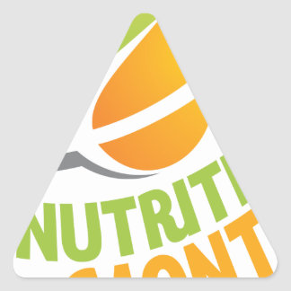 March - Nutrition Month Triangle Sticker