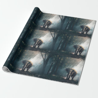 March of the Elephants Wrapping Paper