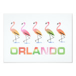 March of the Tropical Flamingos ORLANDO Custom Invitation