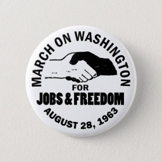 March on Washington 2 Inch Round Button