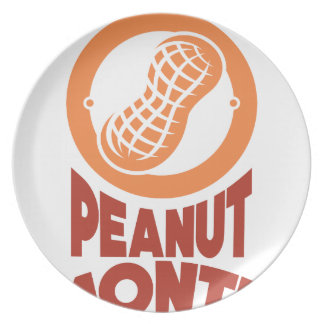 March - Peanut month - Appreciation Day Plate