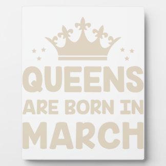 March Queen Plaque