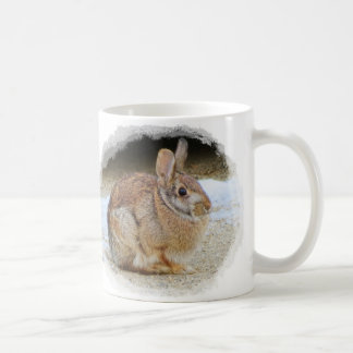 March Rabbit with Vignette Coffee Mug