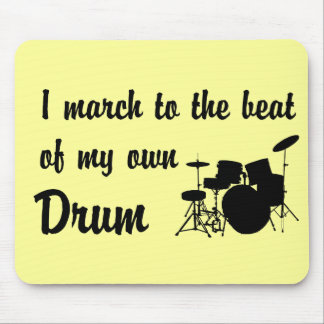 March to the Beat: Drums Mouse Pad