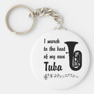 March to the Beat: Tuba Basic Round Button Keychain