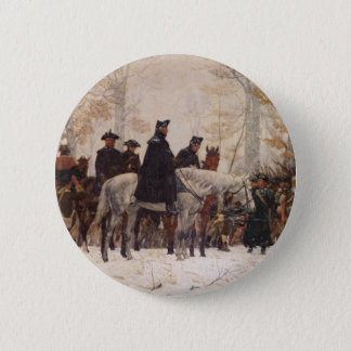 March to Valley Forge - William Trego  (1883) 2 Inch Round Button