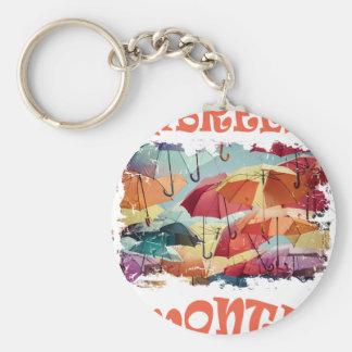 March - Umbrella Month - Appreciation Day Basic Round Button Keychain