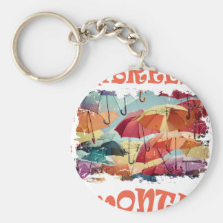 March - Umbrella Month - Appreciation Day Keychain