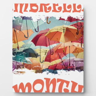 March - Umbrella Month - Appreciation Day Plaque