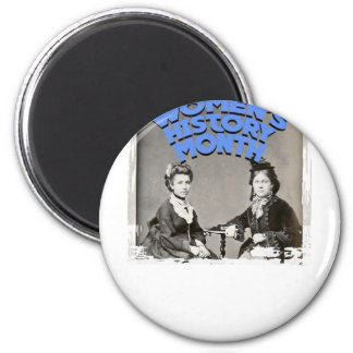 March - Women's History Month 2 Inch Round Magnet