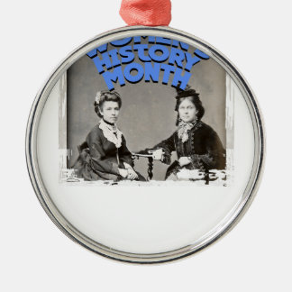 March - Women's History Month Silver-Colored Round Ornament