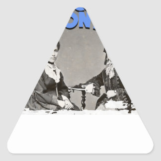 March - Women's History Month Triangle Sticker