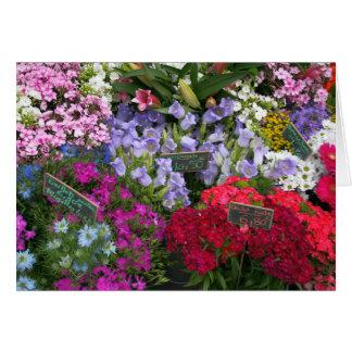 Marché de fleur carte de vœux