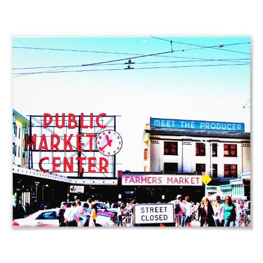 Marché de place de Pike Impressions Photo