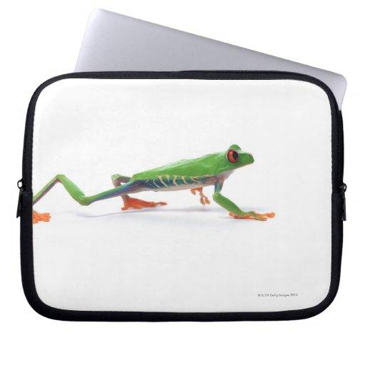 Marche observée par rouge de grenouille d'arbre housses pour ordinateur portable
