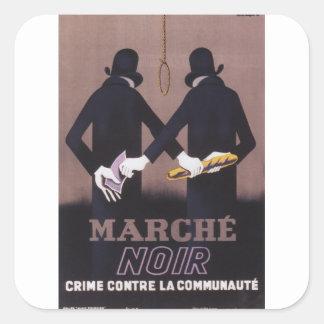 Marche Propaganda Poster Square Sticker