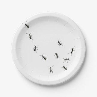 marching ants 7 inch paper plate
